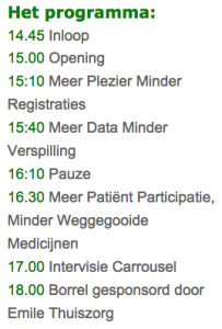 Programma 13 maart 2015